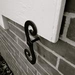 "I love this wrought iron ""S"" shutter lock~"