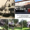 Site of the Lutz House in Schoeanaich, Germany (now a commerial bakery) with 3 views of their yard/garden area (just behind/beyond far end in original pic)